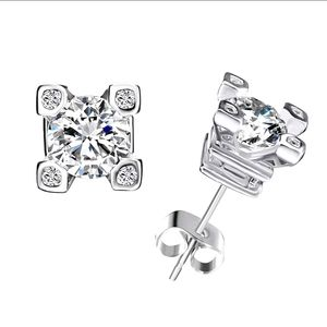 ♠️+Swarovski®Stones Fancy 4 Prong Stud Earrings